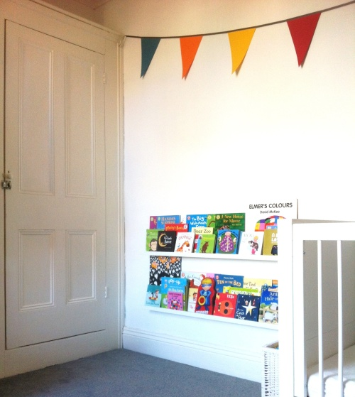 Bookshelves from Ikea Ribba Picture ledges that are all over Pinterest for a good reason - they're fab!